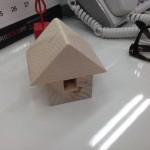 SBIモーゲージから頂いた家形模型に絵心を!
