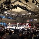 ボクシング試合観戦!